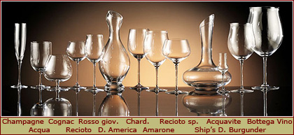 Bottega del Vino Crystal Wine Glasses